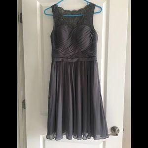Grey Bridesmaid dress knee length